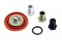 Adjustable Fuel Pressure Regulator Rebuild Kit. Includes: Diaphragm, 3 Interchangeable Orifices & O-Ring