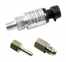 "15 PSIa or 1 Bar Stainless Sensor Kit. Stainless Steel Sensor Body. 1/8"" NPT Male Thread. Includes: 15 PSIa or 1 Bar Stainless Sensor, Connector, Pins, 1/8"" NPT to -4 Adapter & 1/8"" NPT to 3/16"" Barb Adapter"