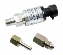 "50 PSIa or 3.5 Bar Stainless Sensor Kit. Stainless Steel Sensor Body. 1/8"" NPT Male Thread. Includes: 50 PSIa or 3.5 Bar Stainless Sensor, Connector, Pins, 1/8"" NPT to -4 Adapter & 1/8"" NPT to 3/16"" Barb Adapter"