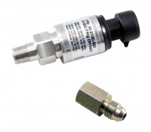 "500 PSIg Stainless Sensor Kit. Stainless Steel Sensor Body. 1/8"" NPT Male Thread. Includes: 500 PSIg Stainless Sensor, Connector, Pins & 1/8"" NPT to -4 Adapter"