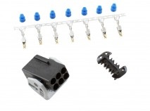 Bosch LSU 4.2 Wideband Connector Kit. Includes: Bosch LSU 4.2 Connector, 7 X Wire Seals & 7 X Contacts