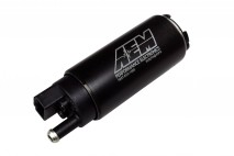 320lph High Flow In-Tank Fuel Pump (Offset Inlet, Inline) . 320lph@43psi. Includes Fuel Pump, installation instructions, wiring harness, pre filter, internal fuel hose & clamps, end cap and rubber buffer sleeve. Included hardware is not application specif