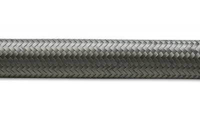 """2ft Roll of Stainless Steel Braided Flex Hose- AN Size: -10- Hose ID 0.56"""""""