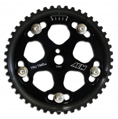 Tru-Time Adjustable Cam Gear. Black. 5-Bolt. Mitsubishi 4G63