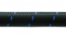 10ft Roll of Black Blue Nylon Braided Flex Hose- AN Size: -6- Hose ID: 0.34""