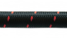 "10ft Roll of Black Red Nylon Braided Flex Hose- AN Size: -10- Hose ID: 0.56""-"
