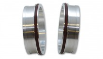 "Aluminum Weld Fitting with O-Rings for 2-1/2"" Tube O.D."