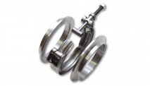 "Stainless Steel V-Band Flange Assembly for 2.5"" O.D. Tubing"