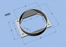 Mass Air Flow Sensor Adapter Plate for Mitsubishi applications