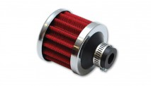 "Crankcase Breather Filter w/ Chrome Cap - 3/8"" (9mm) Inlet I.D."