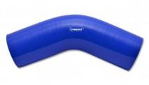 "4 Ply 45 degree Elbow, 3.25"" I.D. x 6"" Leg Length - Blue"