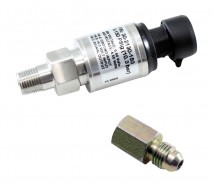 """150 PSIg Stainless Sensor Kit. Stainless Steel Sensor Body. 1/8"""" NPT Male Thread. Includes: 150 PSIg Stainless Sensor, Connector, Pins & 1/8"""" NPT to -4 Adapter"""