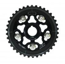 Tru-Time Adjustable Cam Gear. Black. 5-Bolt. Honda D16Y7 & D16Y8